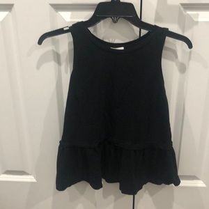Black Old Navy peplum top size small